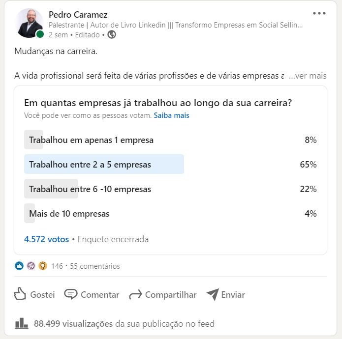 Read more about the article Tutorial: Como criar uma Sondagem, Enquete ou Poll no LinkedIn