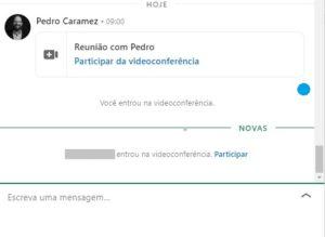 Mensagem Vídeo Conferências   Reunião Instantânea LinkedIn