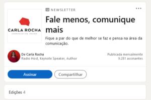 Newsletter LinkedIn Carla Rocha